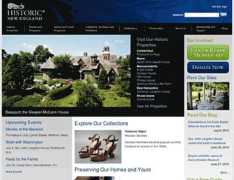 historicnewengland.org screenshot