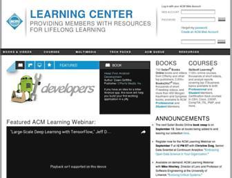 learning.acm.org screenshot
