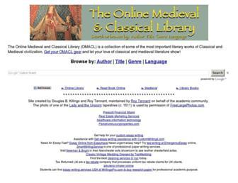 Main page screenshot of omacl.org