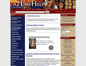azlawhelp.org screenshot