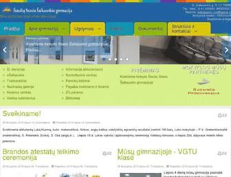 Main page screenshot of salkauskis.org