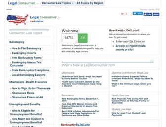 legalconsumer.com screenshot