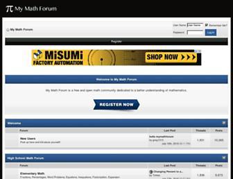 mymathforum.com screenshot
