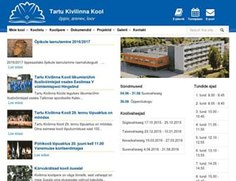 Main page screenshot of kivilinn.tartu.ee