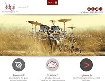 Main page screenshot of development-group.net