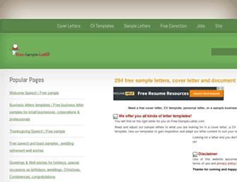 free-sample-letter.com screenshot
