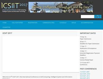 Main page screenshot of icsiit.petra.ac.id