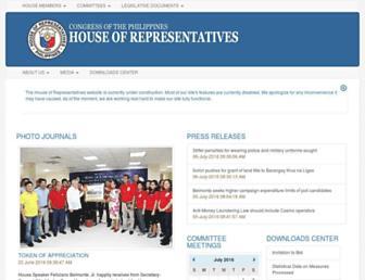 Main page screenshot of congress.gov.ph