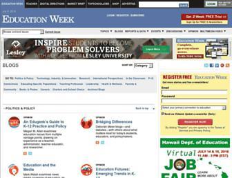 Main page screenshot of blogs.edweek.org