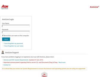 aonline.aon.com screenshot