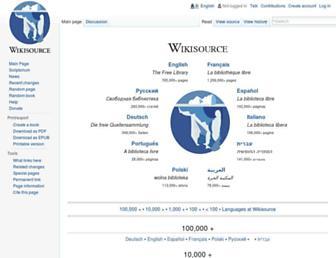Thumbshot of Wikisource.org