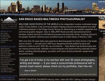 Main page screenshot of gballard.net