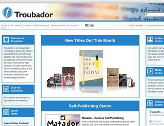 troubador.co.uk screenshot