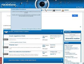 forum-generationmobiles.net screenshot