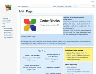 wiki.codeblocks.org screenshot