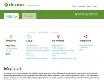 docs.druva.com screenshot