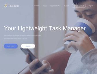 Thumbshot of Ticktick.com