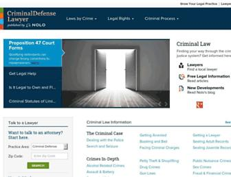 Thumbshot of Criminaldefenselawyer.com