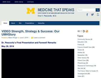 Main page screenshot of medicinethatspeaks.org