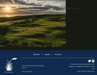 nationalgolf.com.au screenshot