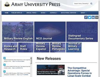 armyupress.army.mil screenshot