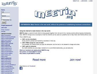 Main page screenshot of meetin.org