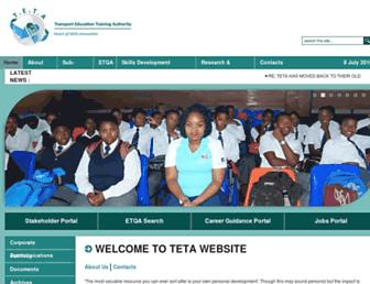 teta.org.za screenshot