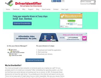 driveridentifier.com screenshot