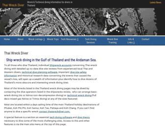 thaiwreckdiver.com screenshot
