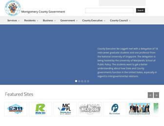 Main page screenshot of montgomerycountymd.gov