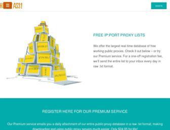 proxylist.hidemyass.com screenshot