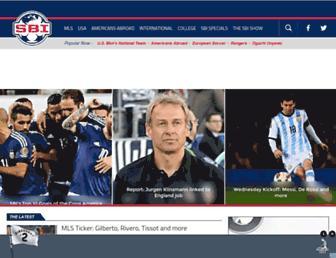 Main page screenshot of soccerbyives.net