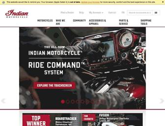 indianmotorcycle.com screenshot