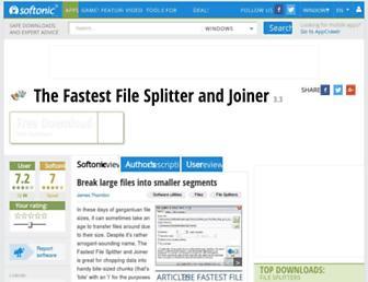 the-fastest-file-splitter-and-joiner.en.softonic.com screenshot
