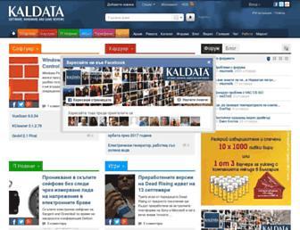 Main page screenshot of kaldata.net