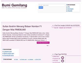 bumigemilang.com screenshot