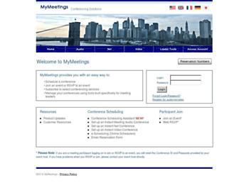 mymeetings.com screenshot