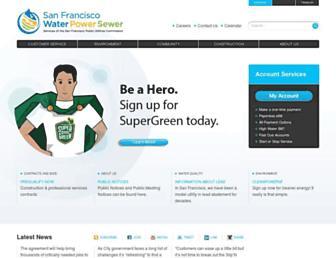 sfwater.org screenshot