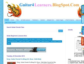 guitar4learners.blogspot.com screenshot