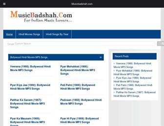 musicbadshah.com screenshot