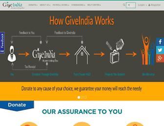 giveindia.org screenshot
