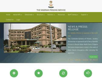 prisons.gov.ng screenshot