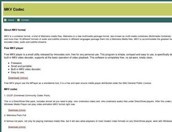 mkvcodec.com screenshot