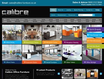Main page screenshot of calibre-furniture.co.uk