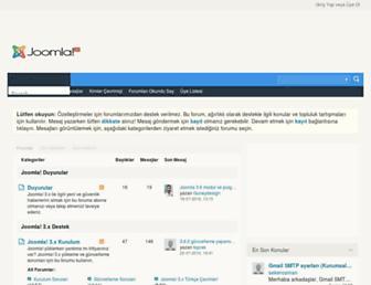 Main page screenshot of forum.joomlatr.org