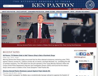 texasattorneygeneral.gov screenshot