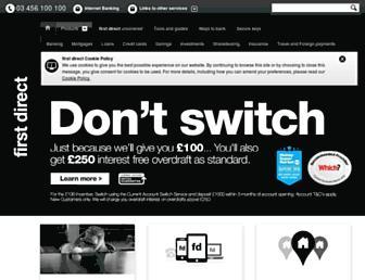www2.firstdirect.com screenshot