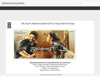 iddarammayilatho-movie.blogspot.com screenshot