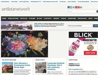 artistsnetwork.com screenshot
