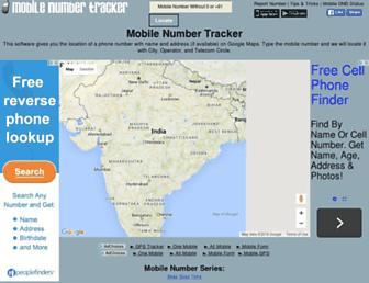 mobilenumbertracker.com screenshot